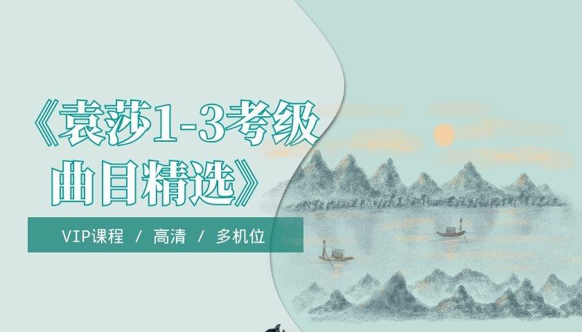 古筝《袁莎主讲1-3考级曲目精选》